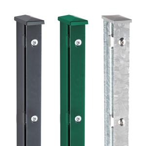Zaunpfosten Typ AF 60 / 40 / 2mm, zum Aufdübeln inkl. Flachleiste