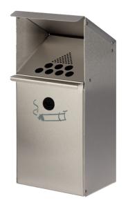 Zigarettenascher -Cubo Gabino- 3,7 Liter zur Wand- oder Standbefestigung (Montage: zur Wandbefestigung (inkl. Montagematerial) (Art.Nr.: 16122))