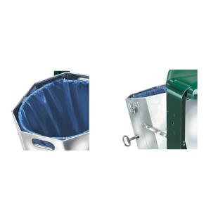 Zubehör für Abfallbehälter -City 700- (Arretierung oder Klemmring) (Modell: Klemmring, schwenkbar (Art.Nr.: 12708))