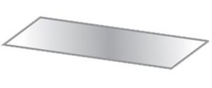 Zusatz-Glasfachboden für Modelle WN, DN, WR, DR mit Bautiefe 180 mm (Passend für Modelle: WN2 / DN2 / WR2 / DR2 (Art.Nr.: 103000143))