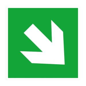 Zusatzschild Richtungsangabe aufwärts, abwärts (Größe/Material: 150 x 150 mm<br>Folie, selbstklebend<br> <b>langnachleuchtend (Art.Nr.: 38.0090))
