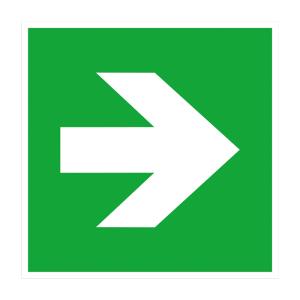 Zusatzschild Richtungsangabe gerade, links, rechts (Maße (BxH)/Material: 150 x 150 mm<br>Folie, selbstklebend<br> <b>langnachleuchtend</b> (Art.Nr.: 38.0055))