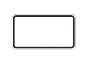 Zusatzzeichen zur Selbstbeschriftung, Aluminium 2 mm, 330 x 600 mm (Ausführung: Zusatzzeichen zur Selbstbeschriftung, Aluminium 2 mm, 330 x 600 mm (Art.Nr.: 28453))