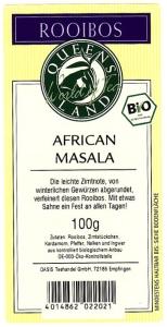 QUEENSLAND Bio Rooibos AFRICAN MASALA 100g