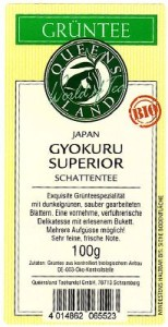 QUEENSLAND Japan GYOKURO SUPERIOR Schattentee 100 g