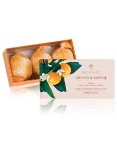 BRONNLEY Orange & Jasmin Seifen im Geschenkkarton  3 x 100 g
