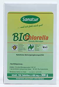 SANATUR Bio Chlorella Hau Tbl. 400mg 750 Tbl.