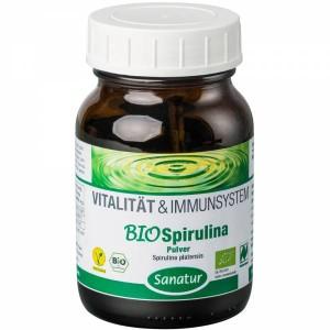 Sanatur Bio Spirulina Pulver (Packungsgröße: Braunglas 125g)