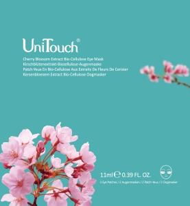 UNITOUCH Kirschblütenextrakt Biozellulose Augenmaske 11ml