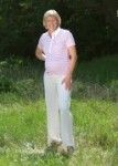 Christoff Umstandsmode - Marlene-Hose mit hochelastischem Stretchbund bis Gr. 54 - Größe: 44; Farbe: braun; Länge: 34 (Beininnenlänge 88-90cm)