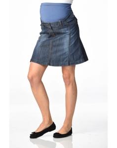 Christoff Designer Jeans-Rock -- Mailand -- leicht ausgestellt Jeansrock - blau