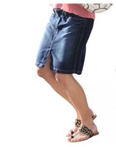 Christoff stylischer modischer Jeansrock Zingst - blau