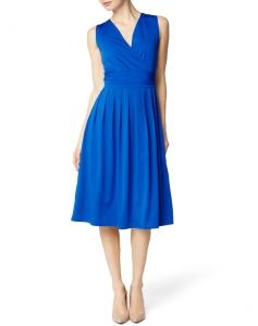 Damen Kleid Raffiniertes Bequemes Rückenfrei Umstandskleid für Schwangere Dress - blau