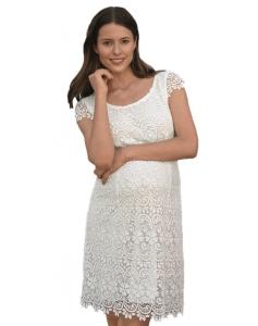 ESPRIT Maternity Damen Umstandskleid Dress Knielang, Brautkleid Hochzeit C1884260 - weiß