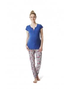 Esprit Maternity Pyjama Pyjamahose, Schlafanzughose Jogginghose - grau