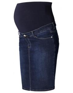 Esprit Maternity Umstandsrock Jeans mit faded Waschung - blau
