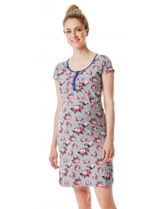 Esprit maternity Still-Nachtkleid bequemes Nachthemd nächtliche Stillen erleichtert - grau