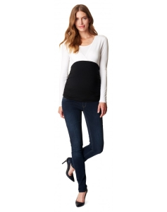 Esprit maternity Umstandsjeans feminin geschnittene Slim Fit Jeans - blau