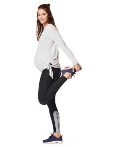 Noppies Damen-Sportleggings mit Bauchband Activewear-Kollektion Quick-Dry-Beschichtung - schwarz