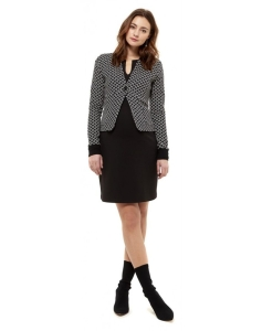 Queen Mum Comf Jacket with rib details - schwarz