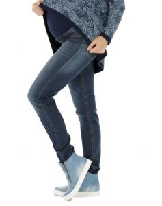 Schwangerschaftshose  Jeans Umstandshose Damen Hose Straight  - blau