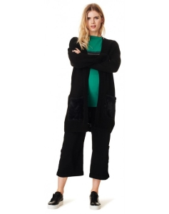 Supermom Cardigan ls Velvet Pockets - schwarz