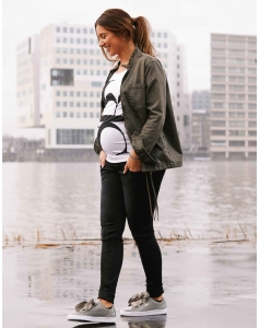Supermom Jeans Skinny Umstandsjeans Black Cut S0719 - schwarz