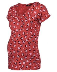 Supermom T-shirt Flower - rot