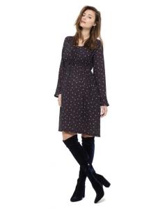 Umstandskleid in Midi-Länge von Queen Mum Nursing Dress 3/4 - schwarz