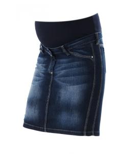femininer stylischer Jeansrock Gotha Umstandsmode Christoff - blau