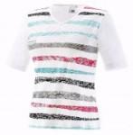 Joy T-Shirt Wiona tropic stripes (Größe: 40)