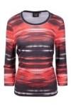Canyon T-Shirt 3/4 Arm red-charcoal (Größe: 48)