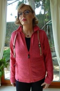 Maul Leicht Strickfleecejacke Revo pinkhibiscus (Größe: 42)