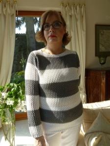 Canyon Women Sports Pullover grau-weiss (Größe: 40)