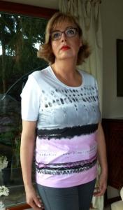 Canyon T-Shirt Aquarell weiss-grau-rose (Größe: 48)
