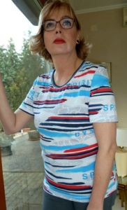 Canyon T-Shirt marine-ozean-grau-weiss-rot (Größe: 40)