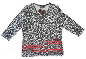 Canyon T-Shirt taupe-white-black Leo (Größe: 44)