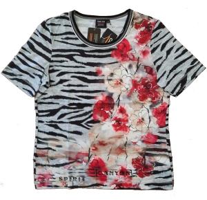 Canyon T-Shirt silvergrey-black Animal Flower Mix (Größe: 46)