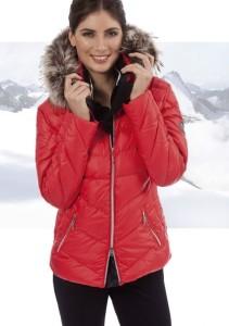 Canyon Daunenjacke für Damen mit Echtpelz schwarz (Größe: 40 schwarz)
