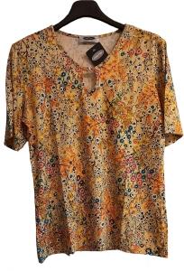 UNO PIU Damen Shirt gelb Blumen (Größe: 40)