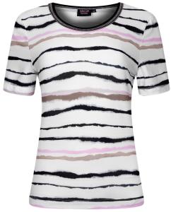 Canyon T-Shirt white-black-camel-rosa (Größe: 40)