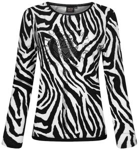 Canyon Women Sports Sweatshirt Animal black-white (Größe: 38)