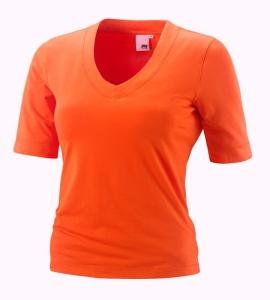 Joy Sportswear T-Shirt Willa V-Ausschnitt orange (Größe: 36)