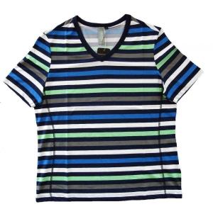 Canyon Women Sports T-Shirt Ringel blau-grün-weiss (Größe: 40)