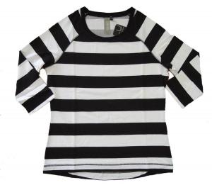 Canyon T-Shirt Ringel 3/4 Arm weiss-schwarz (Größe: 38)