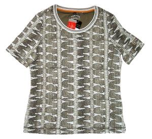 Canyon T-Shirt Allover Print weiss-tabak (Größe: 48)