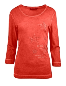 Canyon T-Shirt 3/4 Arm Sternenstick red clay (Größe: 42)