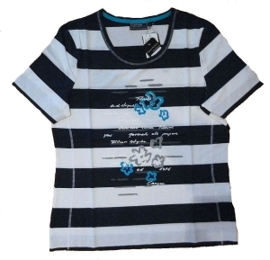 Canyon T-Shirt indigoblau-weiss Print (Größe: 48)
