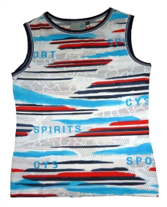 Canyon Women Sports Top blau-weiss-ozean-rot (Größe: 40)