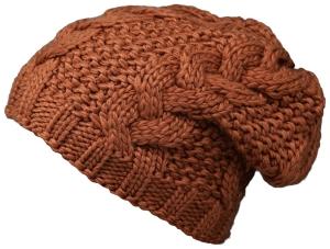 Fiebig Mütze Strickbeanie cognac